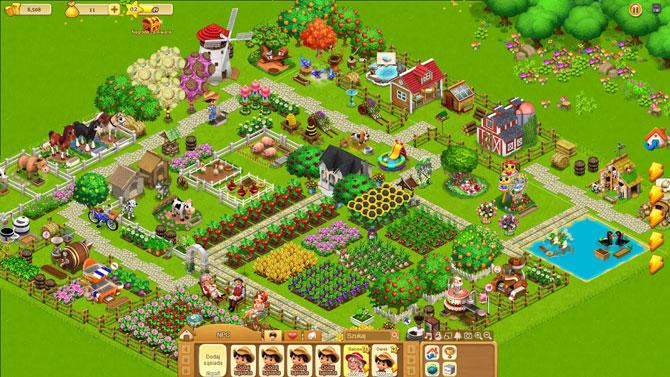 widok farmy w grze wiejskie życie
